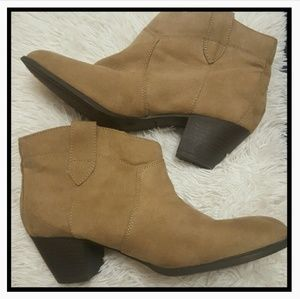 Brown Ankle Booties Size 9